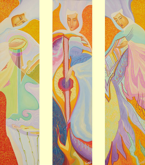 Картины Феодосии. Триптих Музыканты Тихого Храма