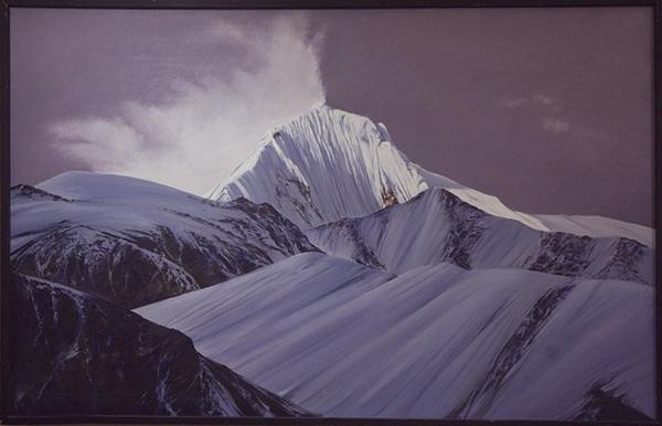 Картины Андрея Старкова. Гималаи, район Анапурны. Пик Khancharkang